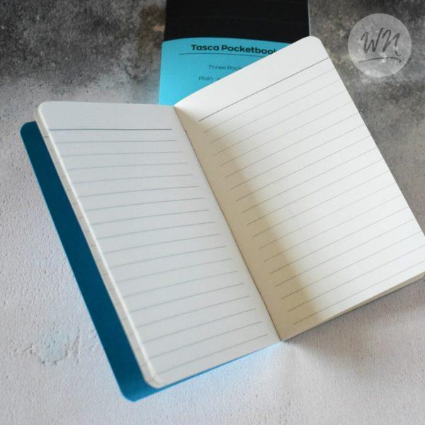 write notes - tasca pocket notebooks 7mm feint ruled