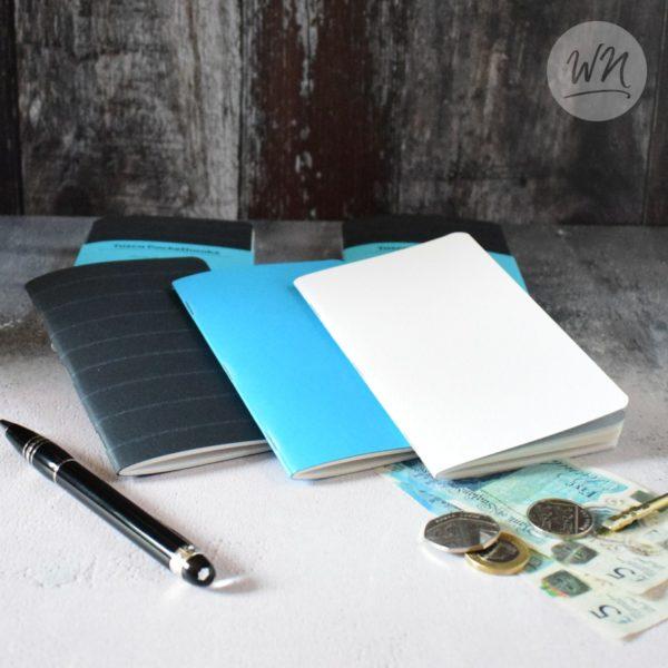 write notes - tasca pocket notebooks saddle stitched