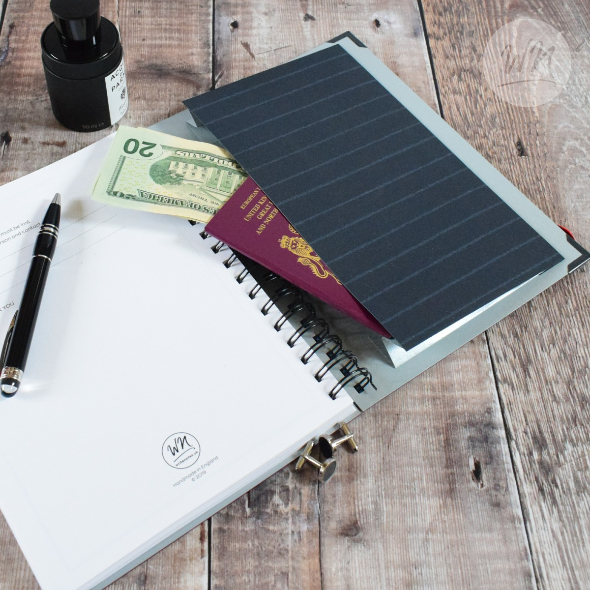 Futura Lusso Year Planner - Luxury Hard backed, wire bound, 2020 year planner for business.