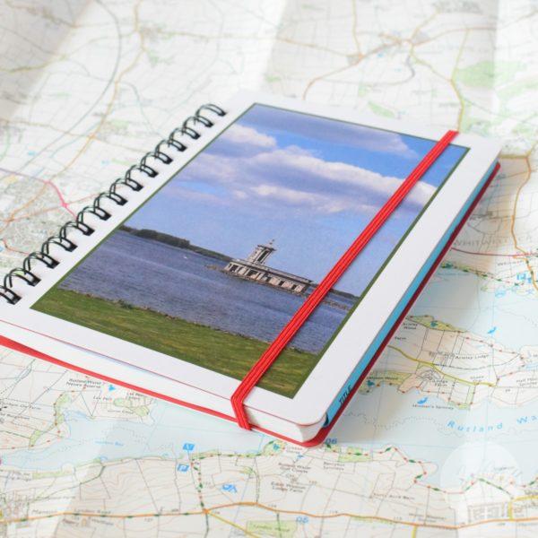 notebook rutland water near oakham in rutland