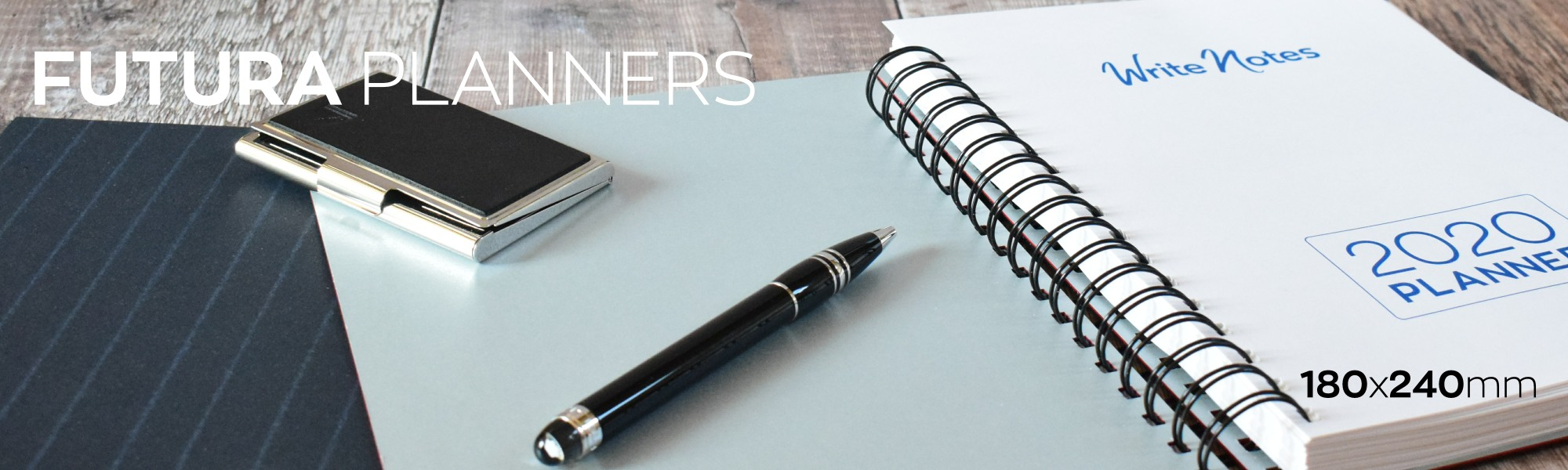 Futura Planner - Hard backed 2020 year planner for business
