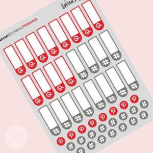 social media planner stickers pinterest hashtags