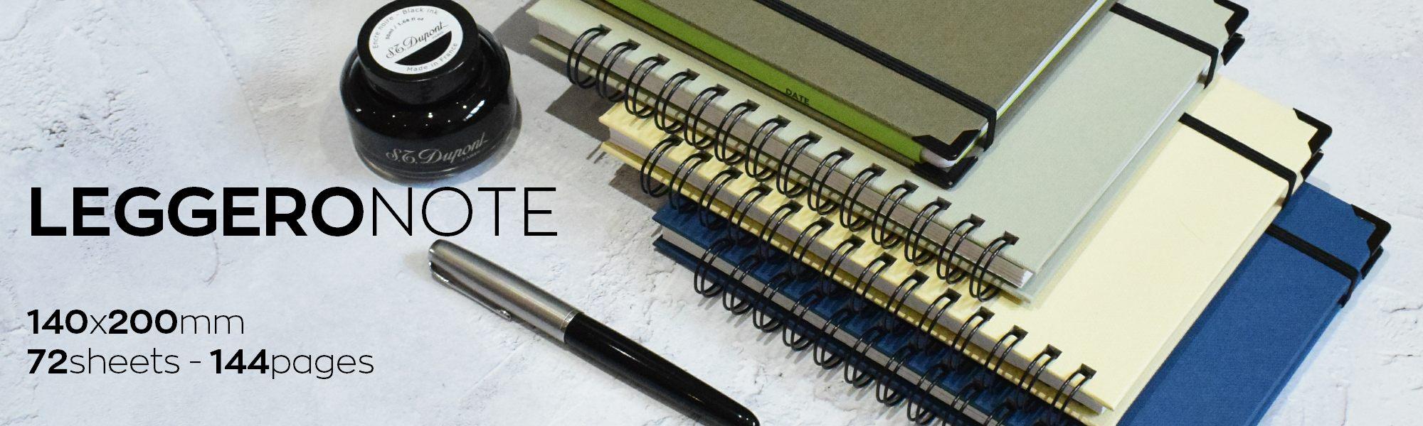 leggero hand made wirebound notebooks
