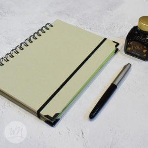 leggero hand made wirebound notebooks agento silver