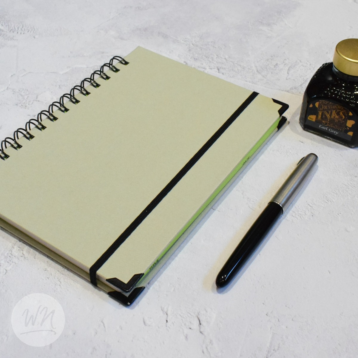 leggero hand made wirebound notebooks agento silver