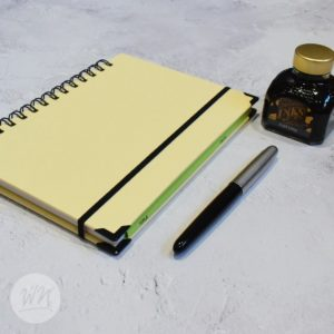leggero hand made wirebound notebooks chiffon