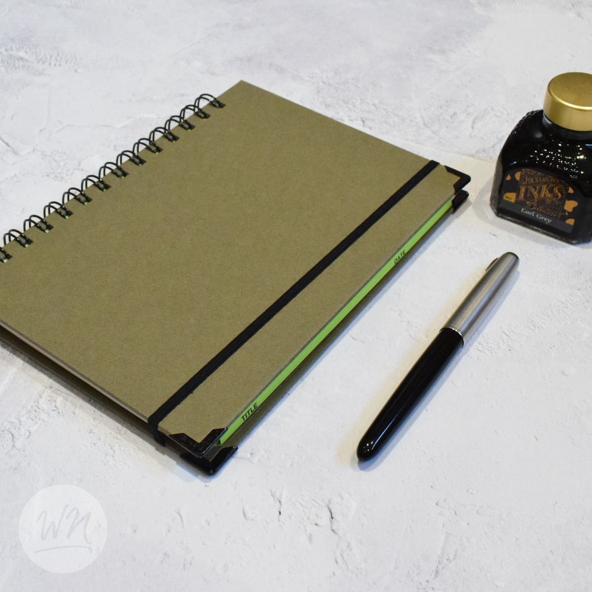 leggero hand made wirebound notebooks oliva nero