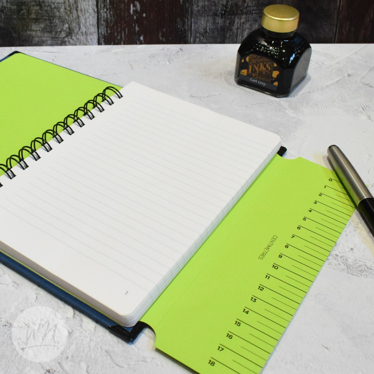 leggero hand made wirebound notebook - ruled, dot grid or plain pages