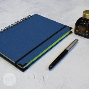 leggero hand made wirebound notebooks tempesta blue
